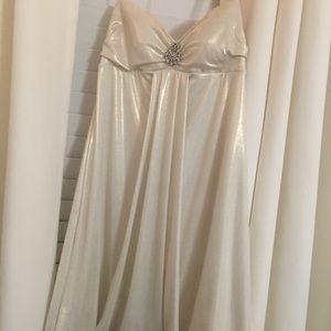 White shimmery dress